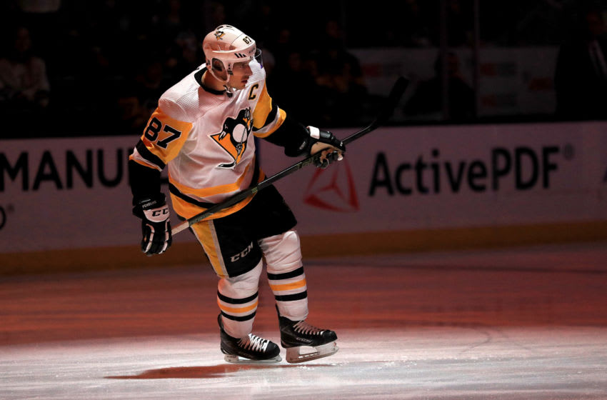 Sidney Crosby #87 of the Pittsburgh Penguins. (Photo by Sean M. Haffey/Getty Images)