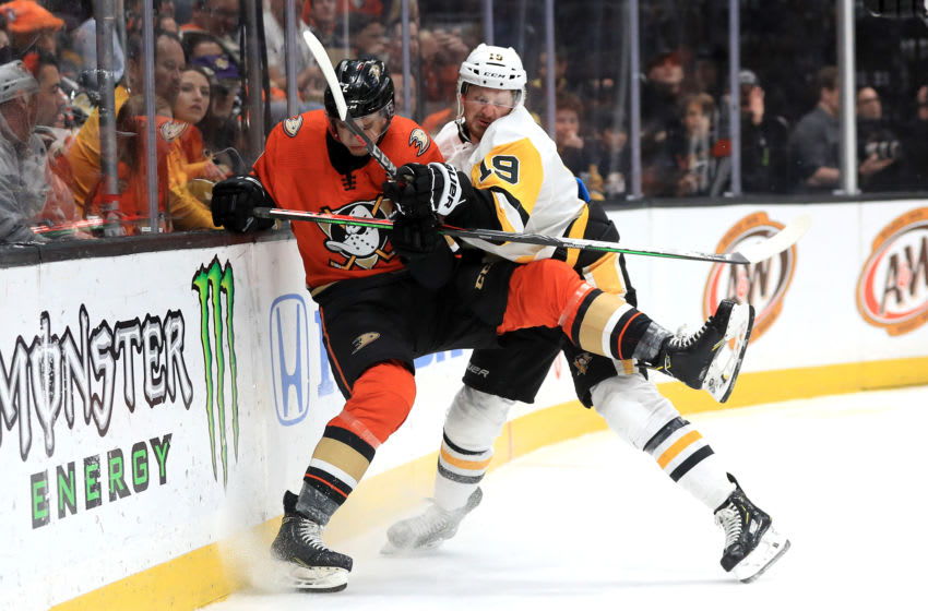 Jared McCann #19 of the Pittsburgh Penguins. (Photo by Sean M. Haffey/Getty Images)