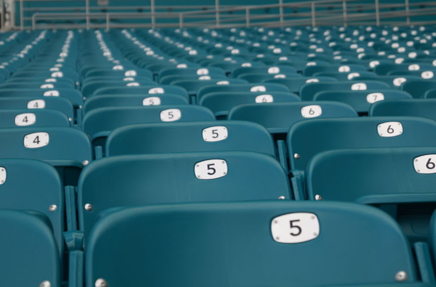 Seats are empty ahead of a Sunday Miami Dolphins game - Image by Brian Miller