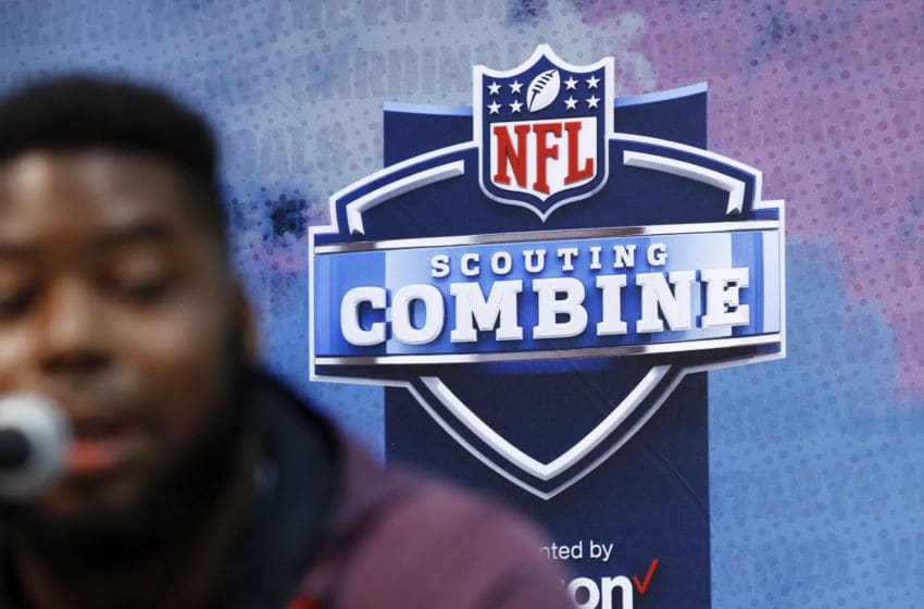 INDIANAPOLIS, IN - FEBRUARY 28: General view during day one of interviews at the NFL Combine at Lucas Oil Stadium on February 28, 2019 in Indianapolis, Indiana. (Photo by Joe Robbins/Getty Images)