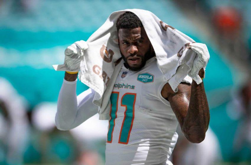 Miami Dolphins wide receiver DeVante Parker (11) at Hard Rock Stadium in Miami Gardens, September 20, 2020. [ALLEN EYESTONE/The Palm Beach Post]