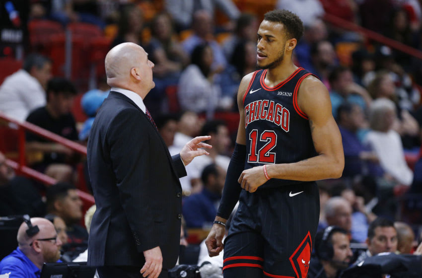 Daniel Gafford, Jim Boylen, Chicago Bulls (Photo by Michael Reaves/Getty Images)