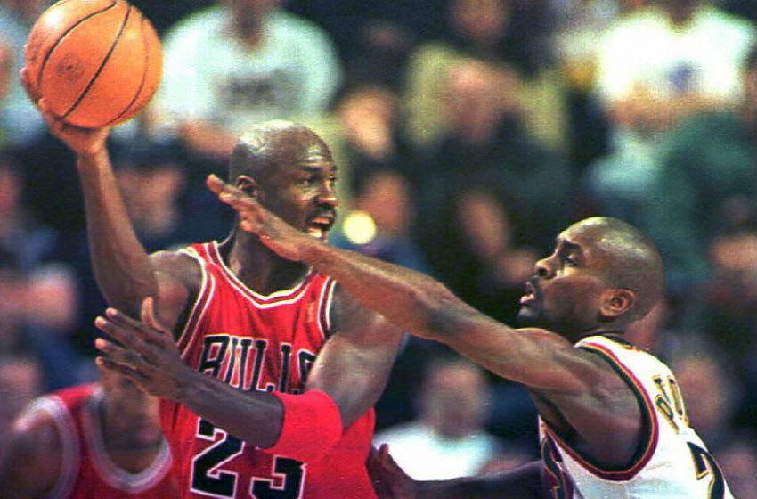 Michael Jordan, Chicago Bulls (Photo credit should read DAN LEVINE/AFP via Getty Images)