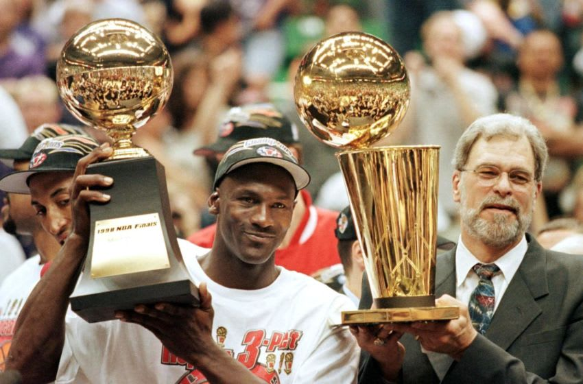 Michael Jordan, Chicago Bulls (Photo by JEFF HAYNES / AFP) (Photo by JEFF HAYNES/AFP via Getty Images)