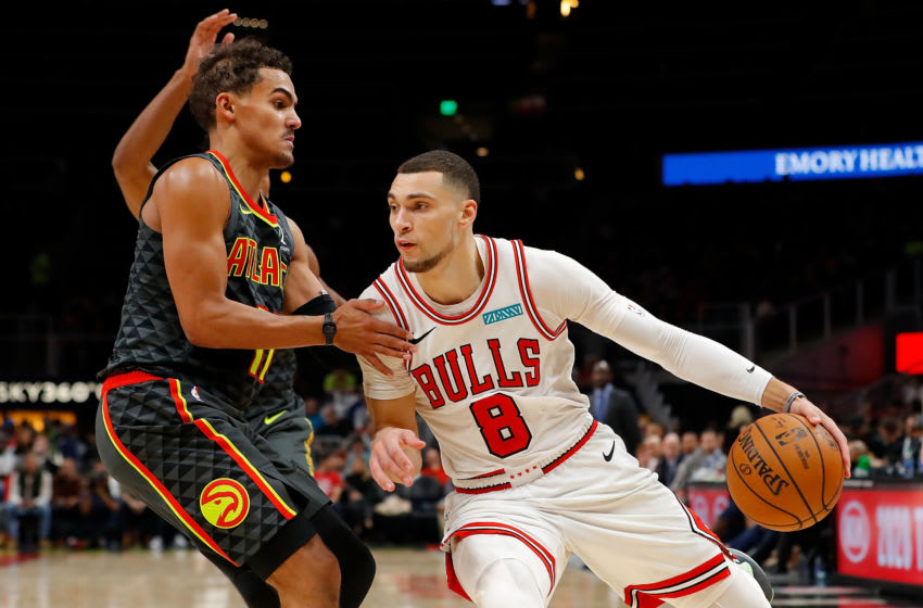 Zach LaVine, Trae Young, Chicago Bulls (Photo by Kevin C. Cox/Getty Images)