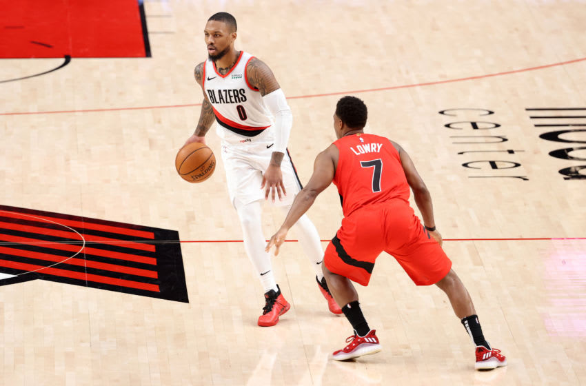 Damian Lillard, Kyle Lowry, Chicago Bulls (Photo by Abbie Parr/Getty Images)