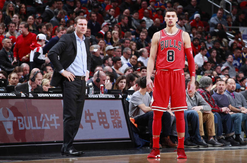 CHICAGO, IL - JANUARY 17: Fred Hoiberg and Zach LaVine