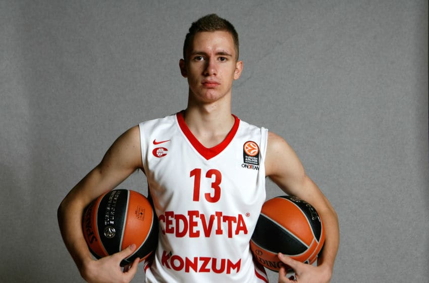 ZAGREB, CROATIA - SEPTEMBER 23: Dzanan Musa, #13 of Cedevita Zagreb poses during the 2015/2016 Turkish Airlines Euroleague Basketball Media Day at Cedevita Basketball Dome on September 23, 2015 in Zagreb, Croatia. (Photo by Robert Valai/EB via Getty Images)