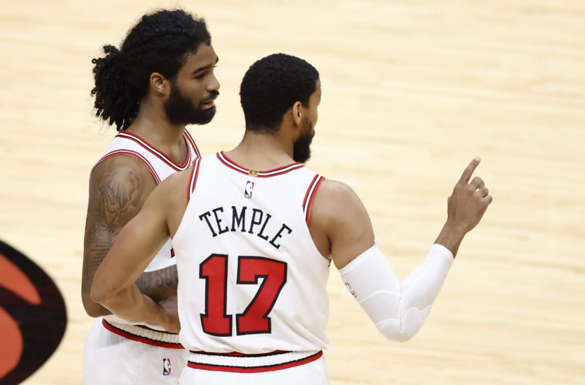 Coby White, Garrett Temple, Chicago Bulls (Photo by Michael Reaves/Getty Images)
