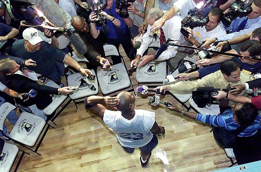 Michael Jordan, Chiago Bulls (Photo credit should read TIM SLOAN/AFP via Getty Images)