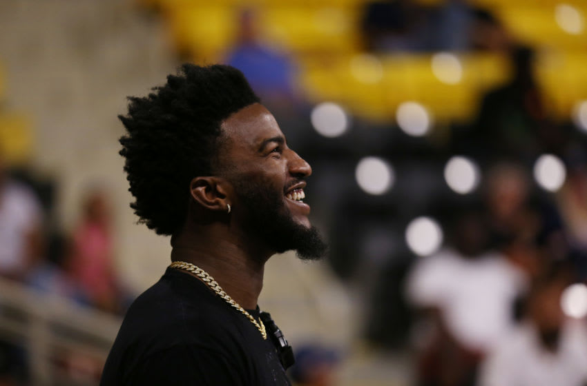 LONG BEACH, CALIFORNIA - AUGUST 17: Jordan Bell attends Jordan Bell Hosts 1st Annual Celebrity Basketball Game Benefitting Race To Erase MS at California State University Long Beach on August 17, 2019 in Long Beach, California. (Photo by Phillip Faraone/Getty Images for Race to Erase MS)