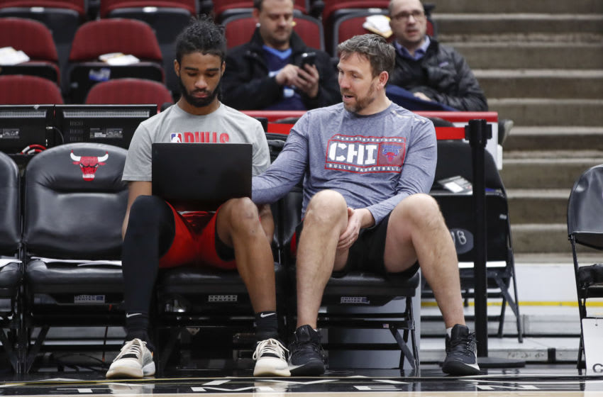 Coby White, Chris Fleming, Chicago Bulls Mandatory Credit: Kamil Krzaczynski-USA TODAY Sports