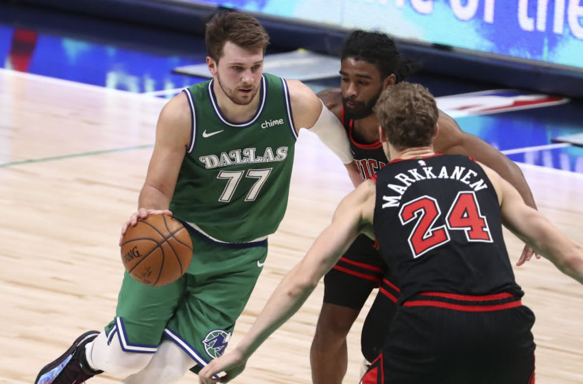 Luka Doncic, Lauri Markkanen, Chicago Bulls Mandatory Credit: Kevin Jairaj-USA TODAY Sports
