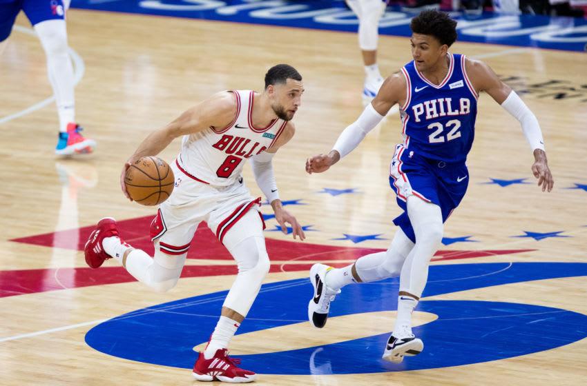 Zach LaVine, Matisse Thybulle, Chicago Bulls Mandatory Credit: Bill Streicher-USA TODAY Sports
