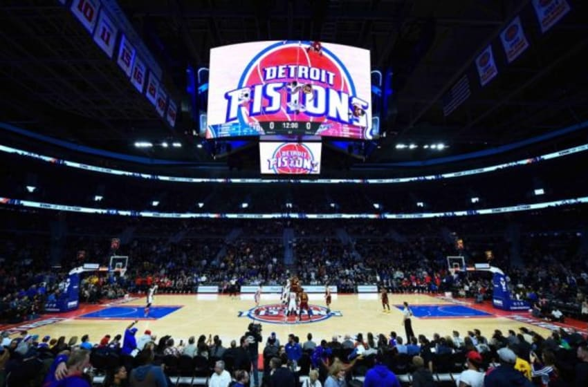 Jan 29, 2016; Auburn Hills, MI, USA; A general view of tip off during the game between the Detroit Pistons and the Cleveland Cavaliers at The Palace of Auburn Hills. Mandatory Credit: Tim Fuller-USA TODAY Sports
