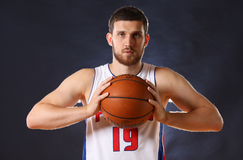 Detroit Pistons Sviatoslav Mykhailiuk. (Photo by Gregory Shamus/Getty Images)
