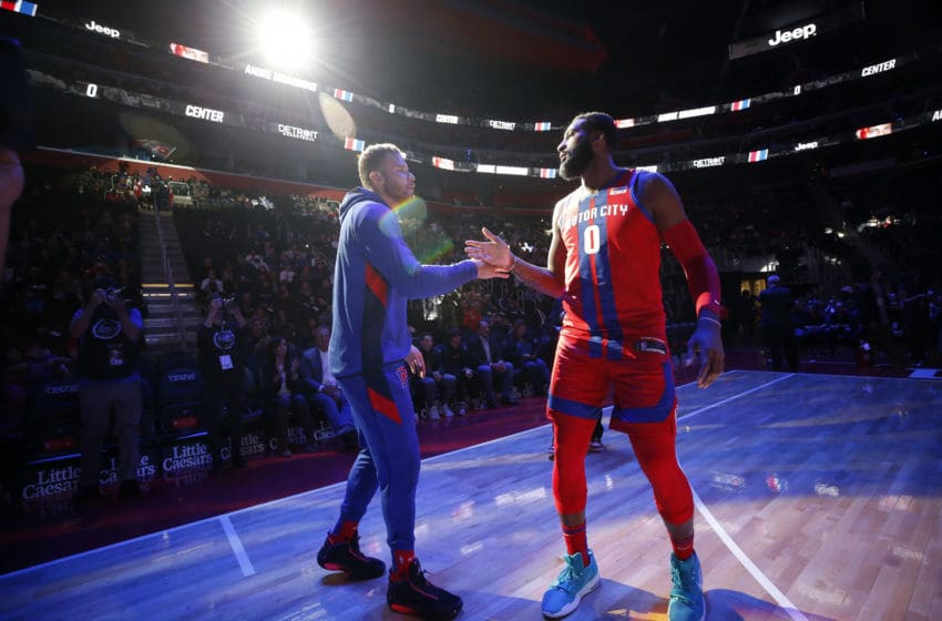 Detroit Pistons Blake Griffin and Andre Drummond. (Photo by Brian Sevald/NBAE via Getty Images)