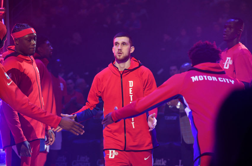 Detroit Pistons Svi Mykhailiuk. (Photo by Chris Schwegler/NBAE via Getty Images)