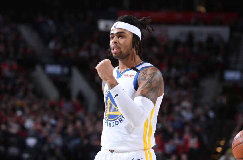 Golden State Warriors D'Angelo Russell. (Photo by Sam Forencich/NBAE via Getty Images)