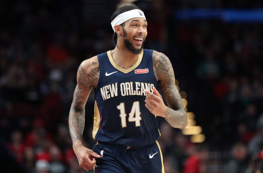PORTLAND, OREGON - DECEMBER 23: Brandon Ingram #14 of the New Orleans Pelicans reacts in the third quarter against the Portland Trail Blazers during their game at Moda Center on December 23, 2019 in Portland, Oregon. NOTE TO USER: User expressly acknowledges and agrees that, by downloading and or using this photograph, User is consenting to the terms and conditions of the Getty Images License Agreement (Photo by Abbie Parr/Getty Images) (Photo by Abbie Parr/Getty Images)