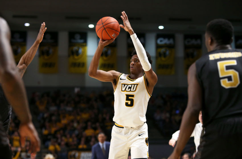 Nah'Shon Hyland #5 of the VCU Rams (Photo by Ryan M. Kelly/Getty Images)