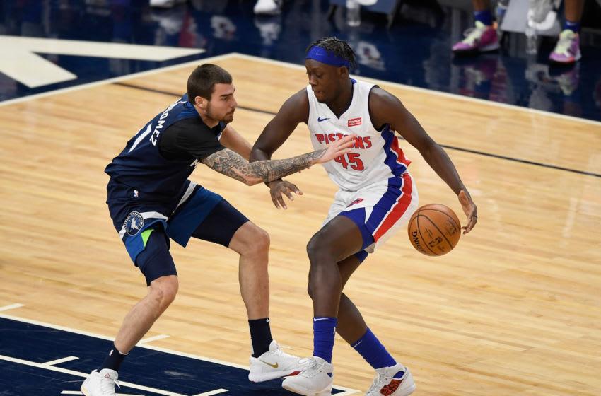 Sekou Doumbouya #45 of the Detroit Pistons (Photo by Hannah Foslien/Getty Images)
