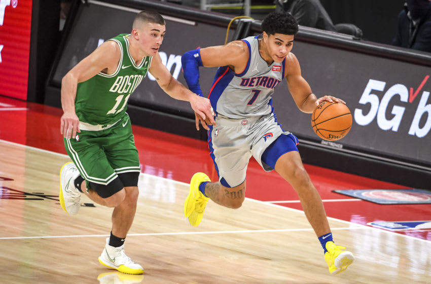 Killian Hayes #7 of the Detroit Pistons (Photo by Nic Antaya/Getty Images)