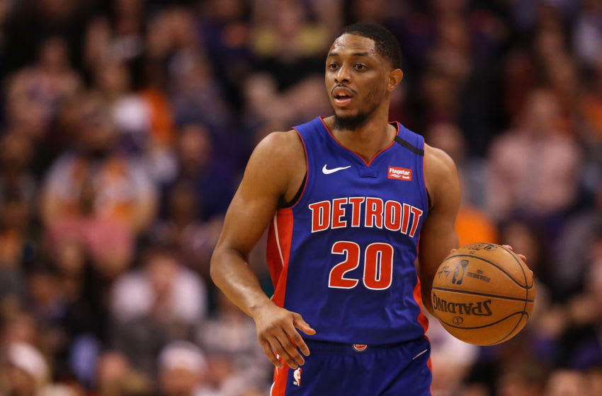 Brandon Knight #20 of the Detroit Pistons (Photo by Christian Petersen/Getty Images)