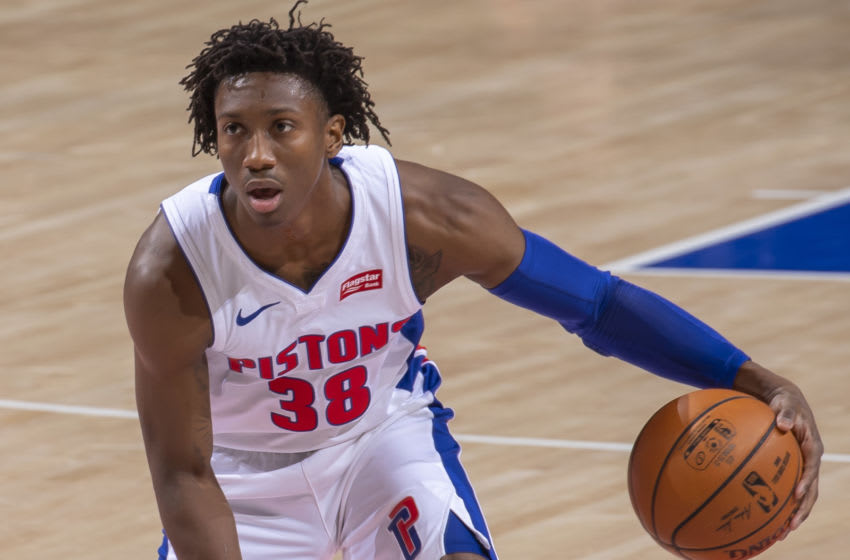 Saben Lee #38 of the Detroit Pistons (Photo by Dave Reginek/Getty Images)