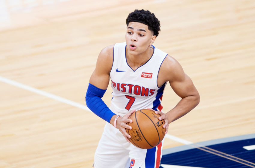 Killian Hayes #7 of the Detroit Pistons (Photo by Hannah Foslien/Getty Images)