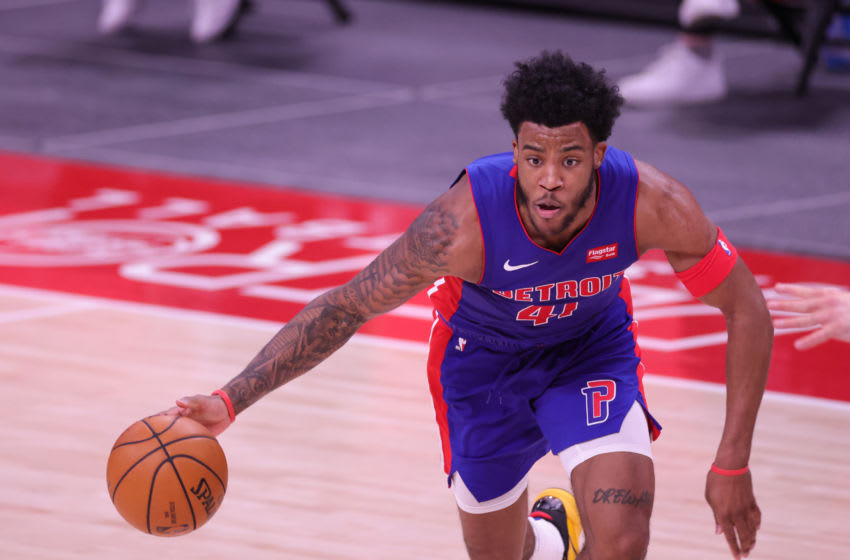 Saddiq Bey #41 of the Detroit Pistons (Photo by Leon Halip/Getty Images)