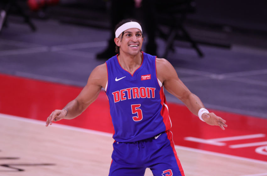 Frank Jackson #5 of the Detroit Pistons (Photo by Leon Halip/Getty Images)
