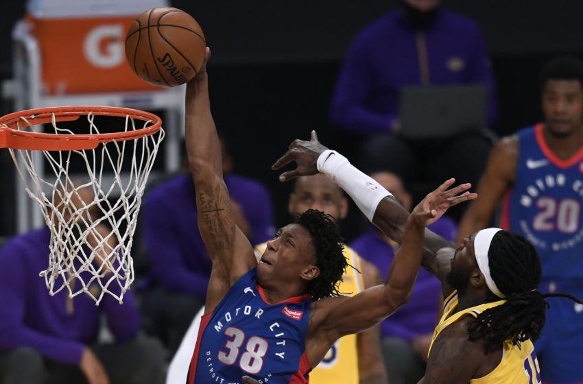 Saben Lee #38 of the Detroit Pistons Mandatory Copyright Notice: Copyright 2021 NBAE.