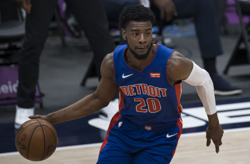 Josh Jackson #20 of the Detroit Pistons(Photo by Scott Taetsch/Getty Images)