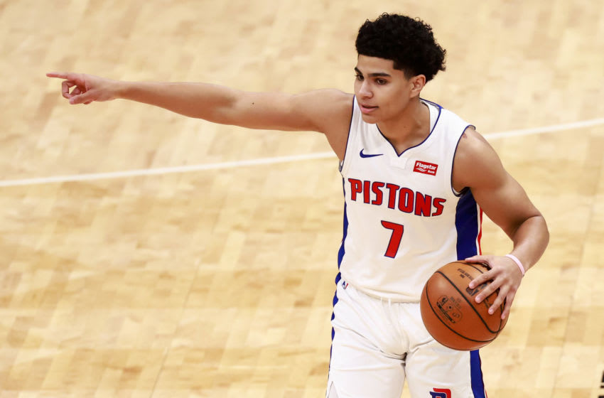 Killian Hayes #7 of the Detroit Pistons (Photo by Grant Halverson/Getty Images)