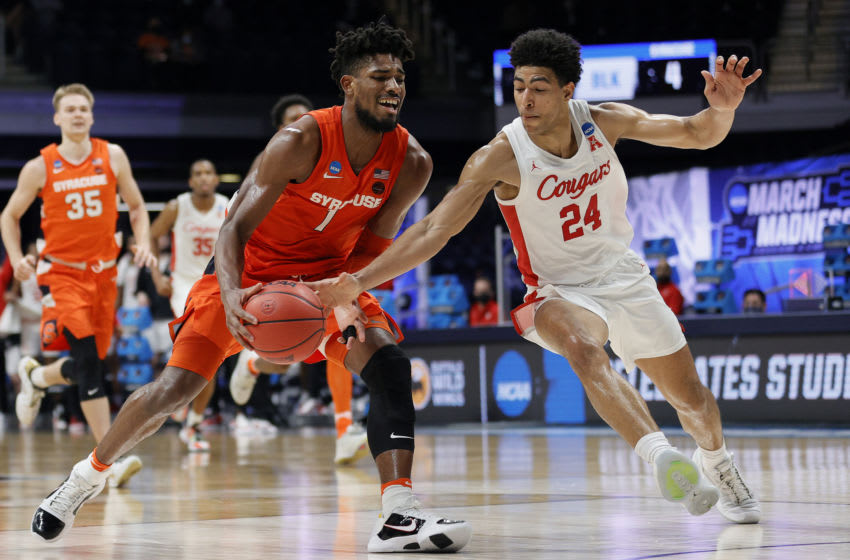 Quentin Grimes #24 of the Houston Cougars l(Photo by Sarah Stier/Getty Images)