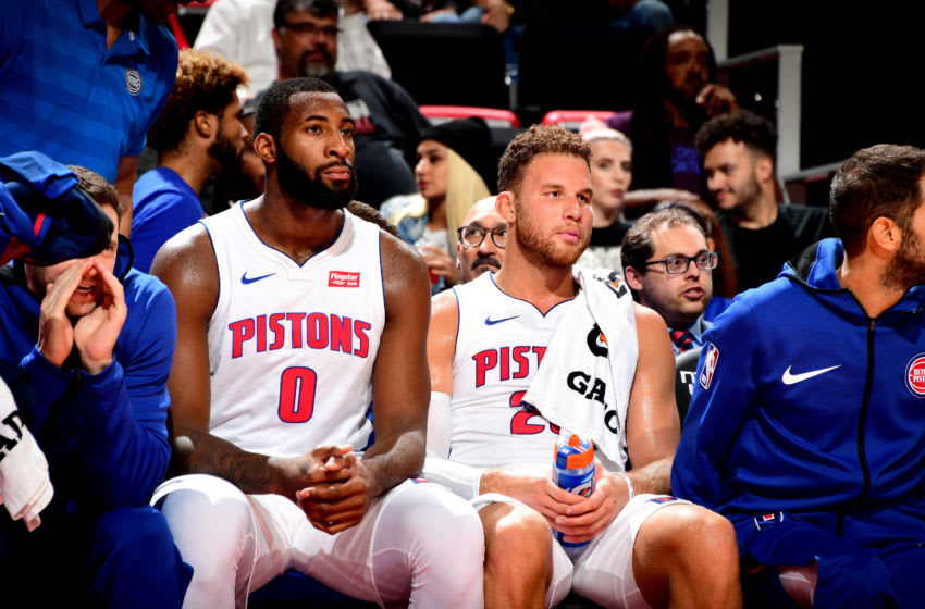 Detroit Pistons Andre Drummond and Blake Griffin. (Photo by Chris Schwegler/NBAE via Getty Images)