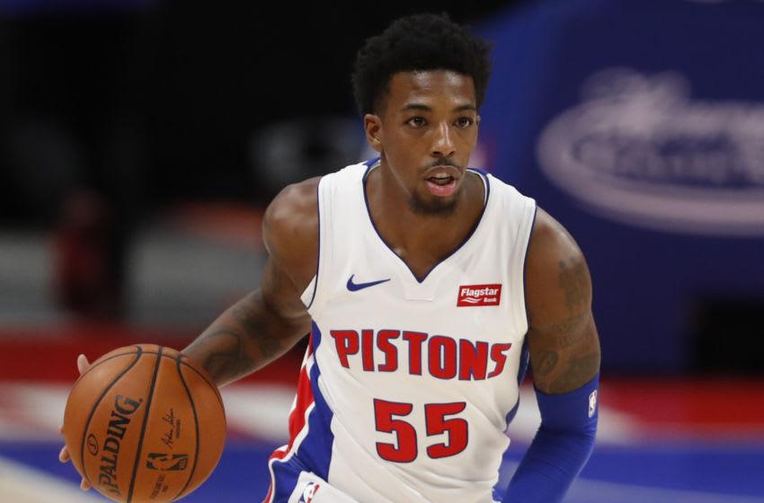 Detroit Pistons guard Delon Wright Credit: Raj Mehta-USA TODAY Sports