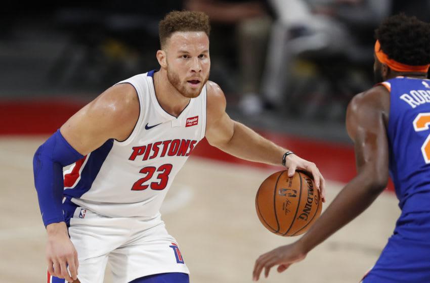 Dec 11, 2020; Detroit, Michigan, USA; Detroit Pistons forward Blake Griffin (23)Mandatory Credit: Raj Mehta-USA TODAY Sports