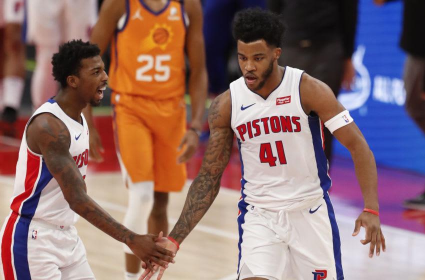 Jan 8, 2021; Detroit, Michigan, USA; Detroit Pistons guard Saddiq Bey (41) Raj Mehta-USA TODAY Sports
