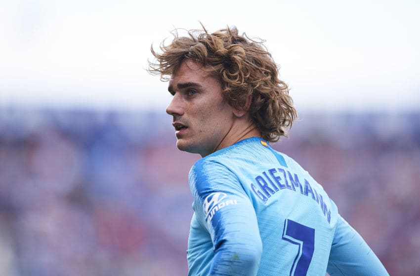 VALENCIA, SPAIN - MAY 18: Antoine Griezmann of Club Atletico de Madrid looks on during the La Liga match between Levante UD and Club Atletico de Madrid at Ciutat de Valencia on May 18, 2019 in Valencia, Spain. (Photo by Quality Sport Images/Getty Images)