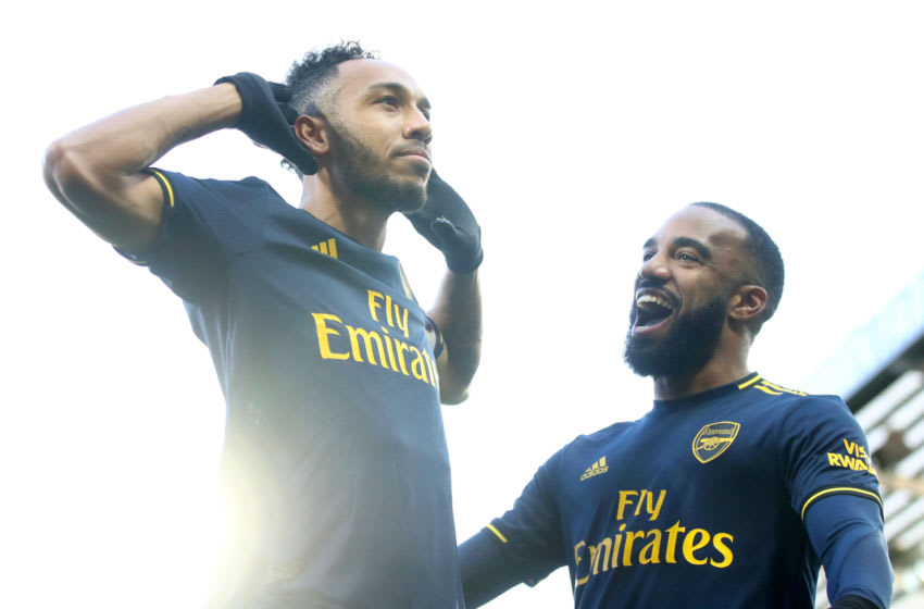 Pierre-Emerick Aubameyang and Alexandre Lacazette, Arsenal (Photo by Julian Finney/Getty Images)
