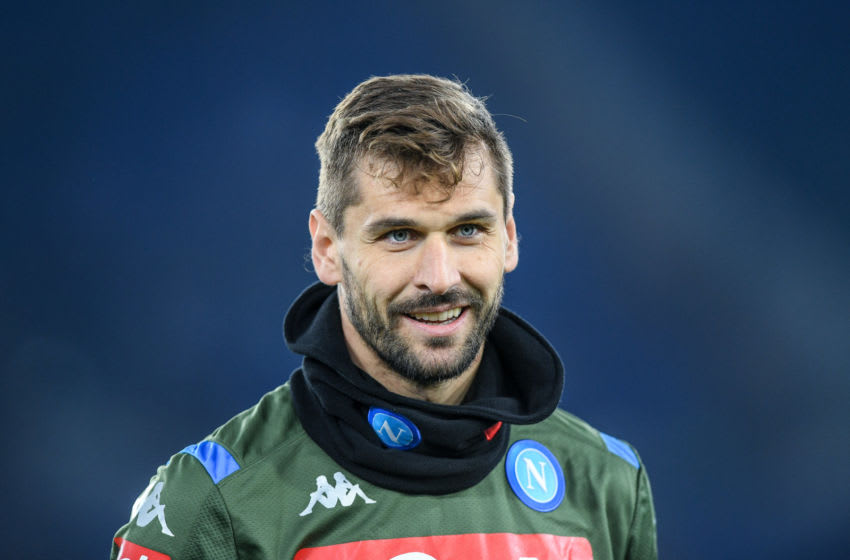 Fernando Llorente of SSC Napoli during the Serie A match between SS Lazio and SSC Napoli at Stadio Olimpico, Rome, Italy on 11 January 2020. (Photo by Giuseppe Maffia/NurPhoto via Getty Images)