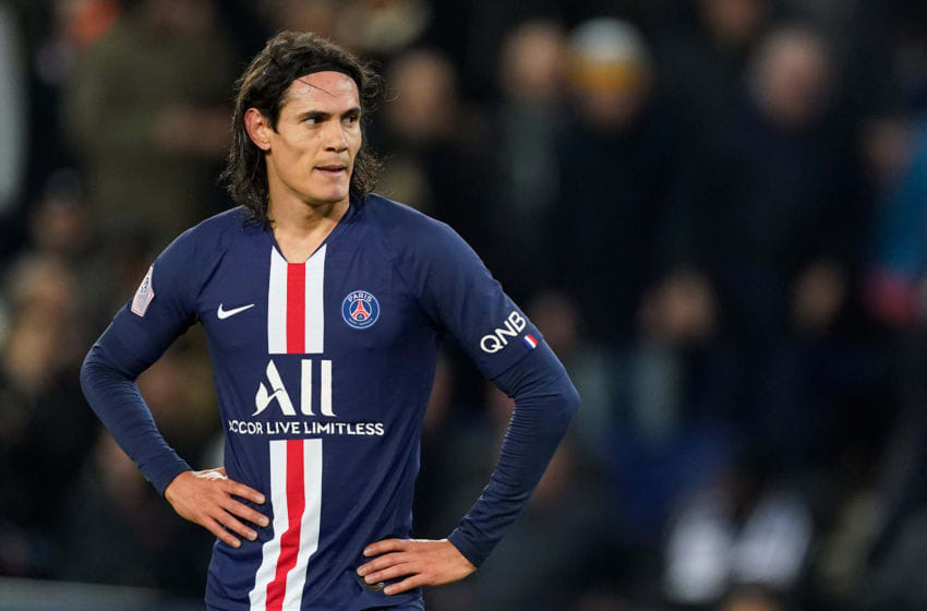 PARIS, FRANCE - JANUARY 12: Edinson Cavani of Paris Saint Germain during the French League 1 match between Paris Saint Germain v AS Monaco at the Parc des Princes on January 12, 2020 in Paris France (Photo by Jeroen Meuwsen/Soccrates/Getty Images)
