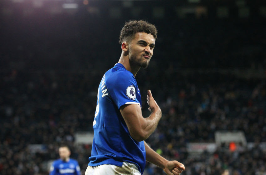 NEWCASTLE UPON TYNE, ENGLAND - DECEMBER 28: Dominic Calvert-Lewin of Everton celebrates after the Premier League match between Newcastle United and Everton FC at St. James Park on December 28, 2019 in Newcastle upon Tyne, United Kingdom. (Photo by James Gill - Danehouse/Getty Images)