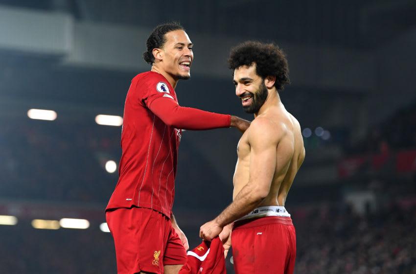 Virgil van Dijk and Mohamed Salah, Liverpool (Photo by Michael Regan/Getty Images)