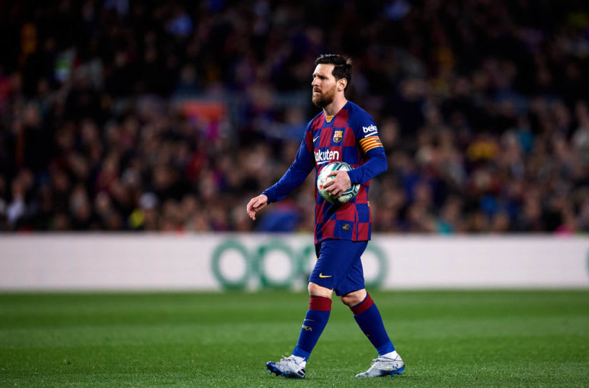 Lionel Messi, Barcelona. (Photo by Alex Caparros/Getty Images)
