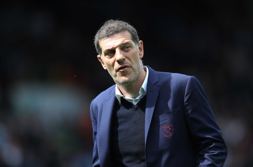 BURNLEY, ENGLAND - MAY 21: West Ham United manager Slaven Bilic is seen during the Premier League match between Burnley and West Ham United at Turf Moor on May 21, 2017 in Burnley, England. (Photo by Ian MacNicol/Getty Images)