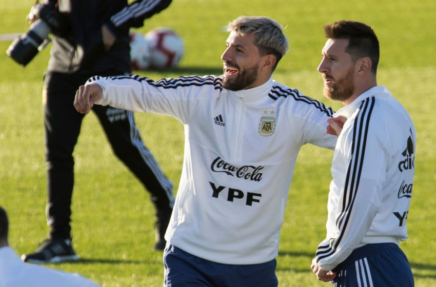 Aguero could reunite with Argentinian team mate Messi at Barcelona. Image: (Jaime Reina /AFP via Getty Images)