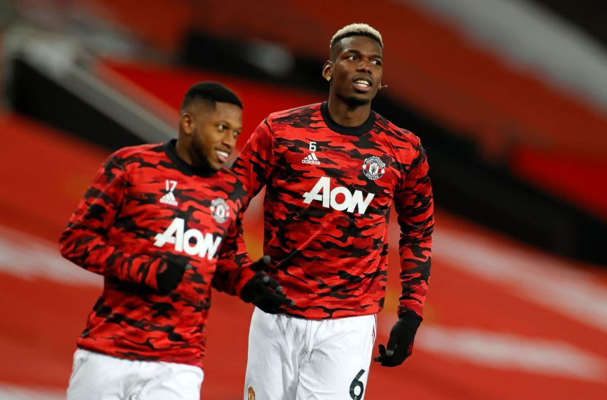 Fred and Paul Pogba, Manchester United (Photo by PHIL NOBLE/POOL/AFP via Getty Images)
